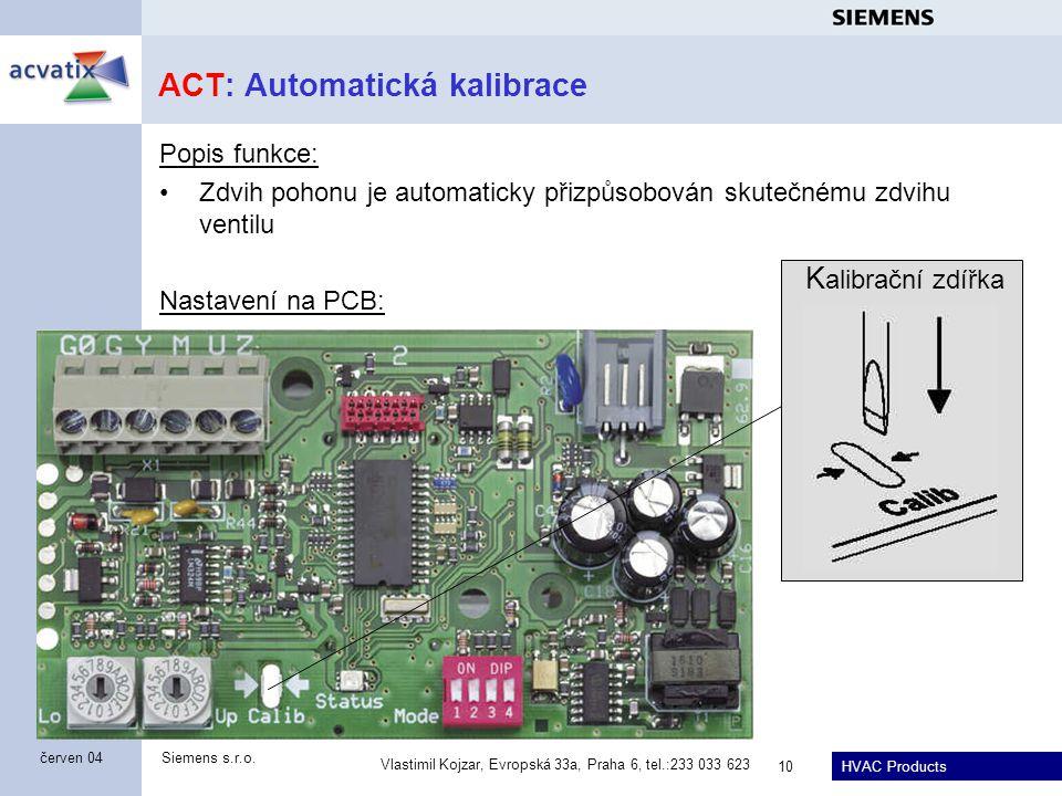 ACT: Automatická kalibrace