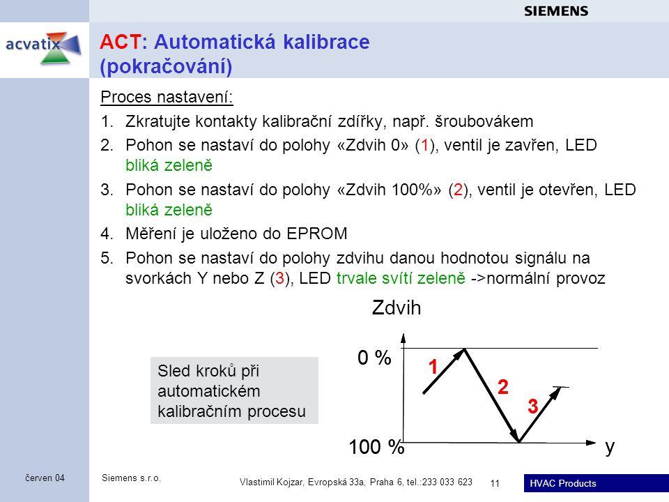 ACT: Automatická kalibrace (pokračování)