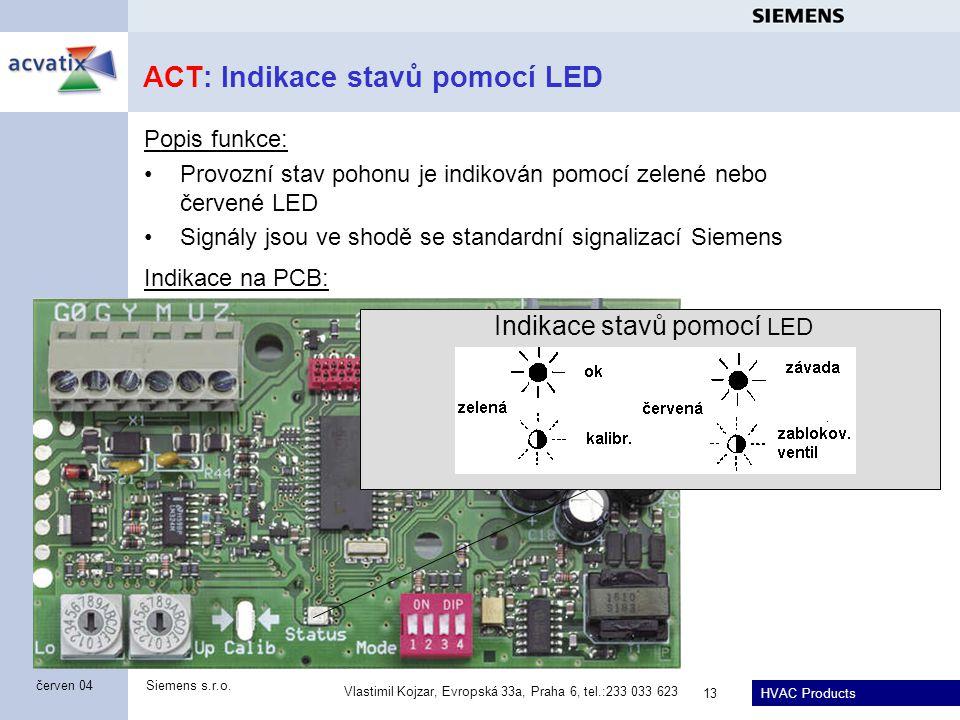 ACT: Indikace stavů pomocí LED