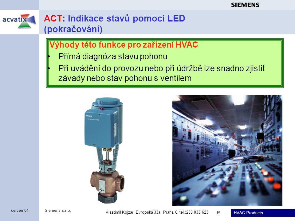 ACT: Indikace stavů pomocí LED (pokračování)