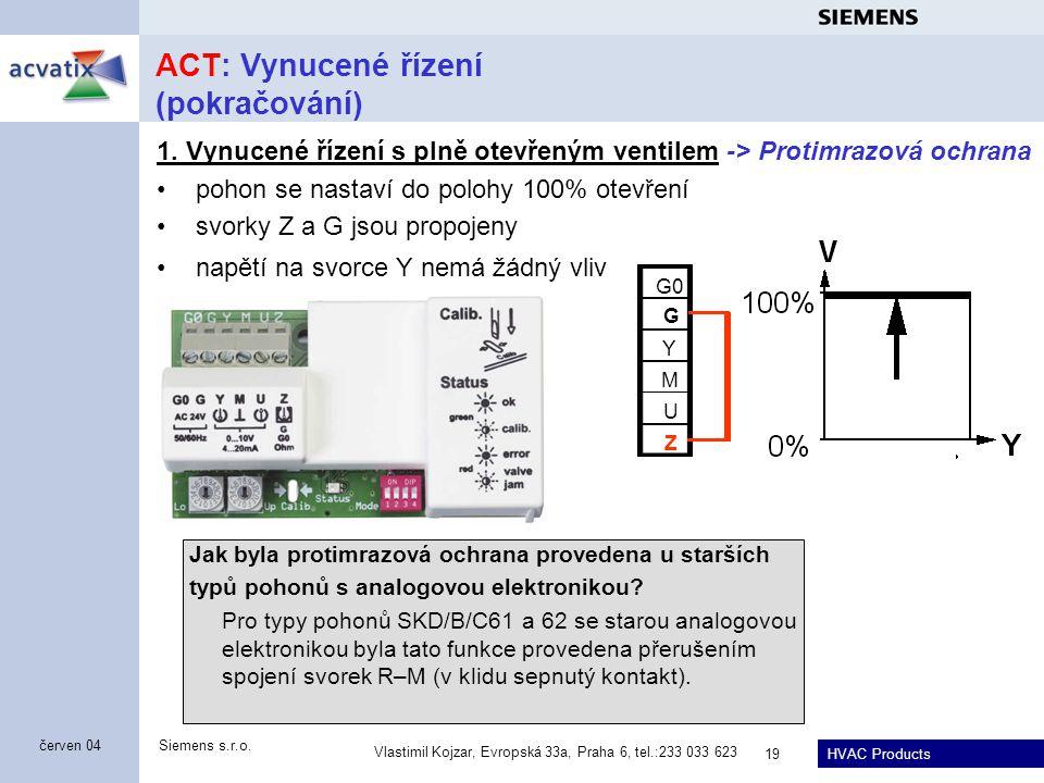 ACT: Vynucené řízení (pokračování)