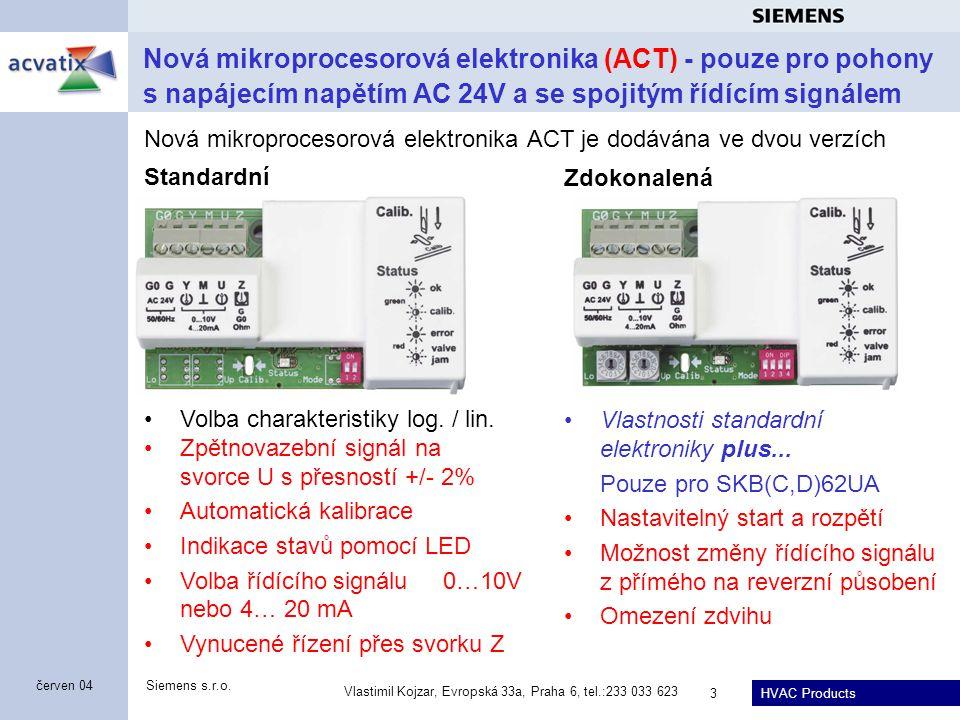Apr-17 Nová mikroprocesorová elektronika (ACT) - pouze pro pohony s napájecím napětím AC 24V a se spojitým řídícím signálem.