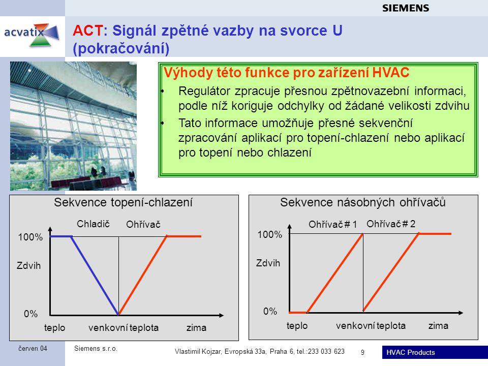 ACT: Signál zpětné vazby na svorce U (pokračování)