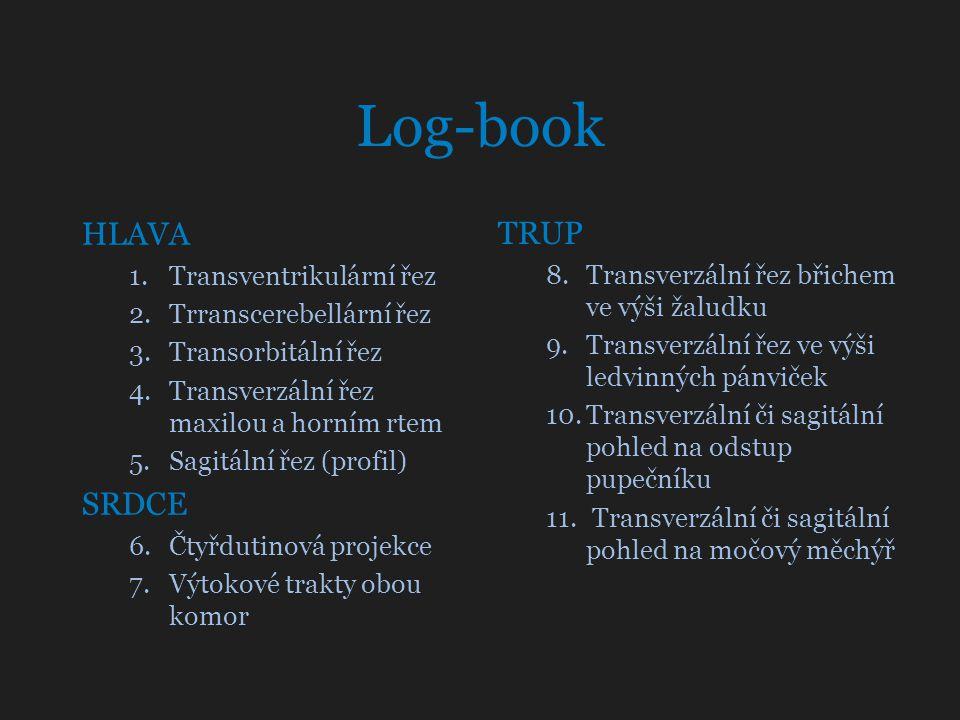 Log-book HLAVA TRUP SRDCE Transventrikulární řez