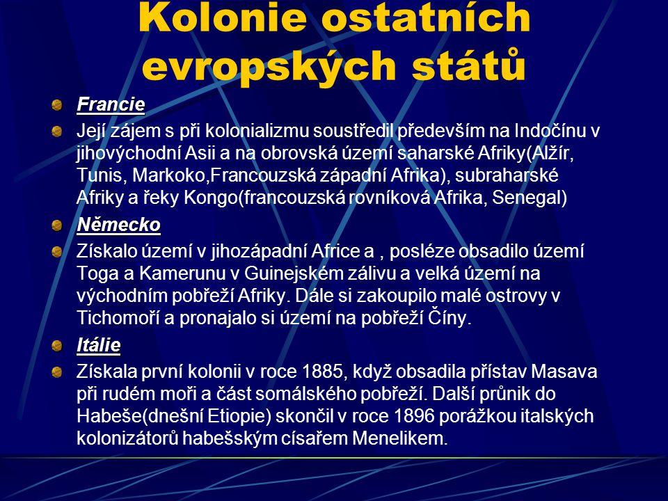Kolonie ostatních evropských států