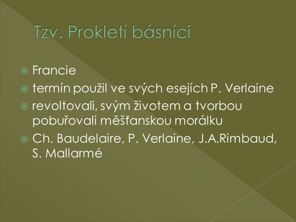 Tzv. Prokletí básníci Francie
