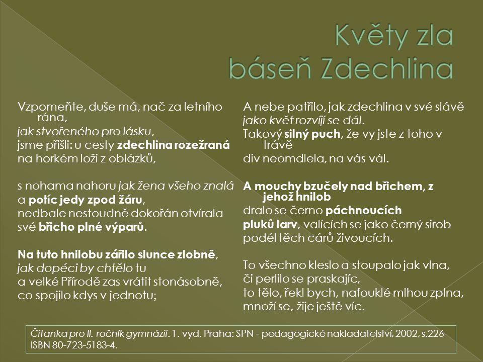Květy zla báseň Zdechlina