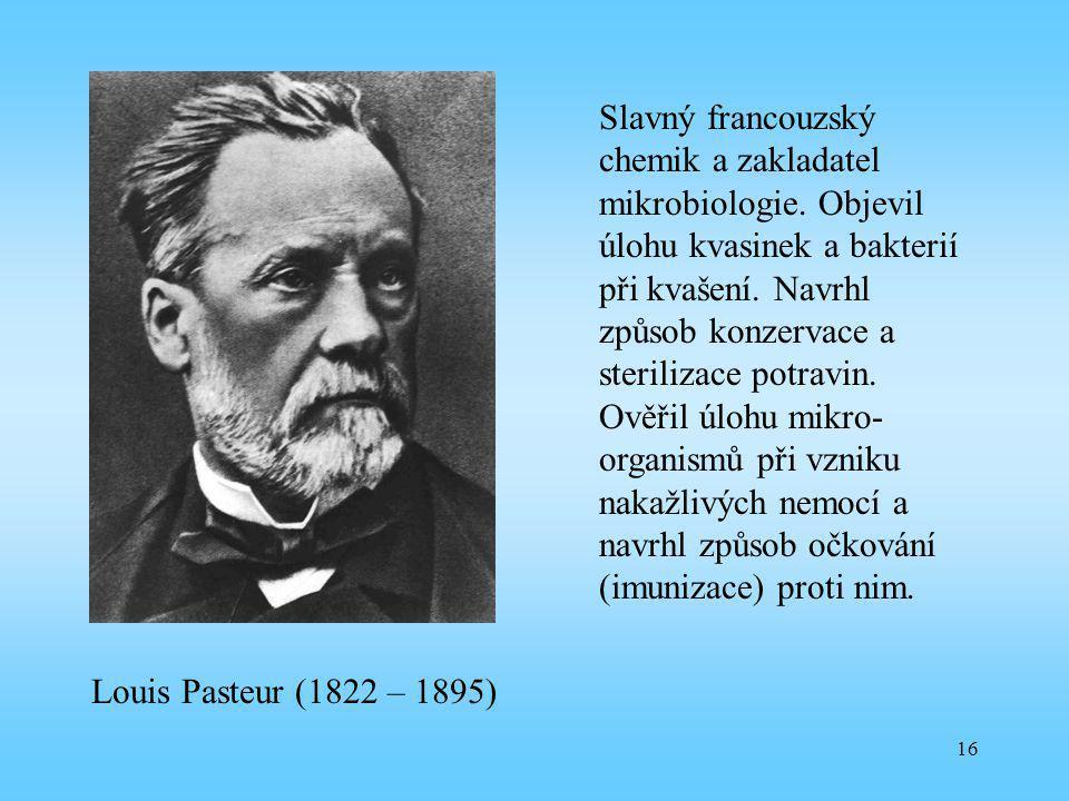 Slavný francouzský chemik a zakladatel mikrobiologie