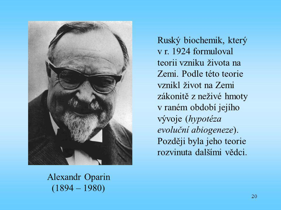 Ruský biochemik, který v r