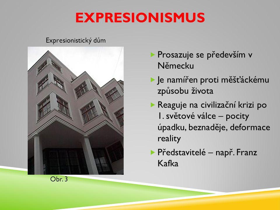 Expresionismus Prosazuje se především v Německu