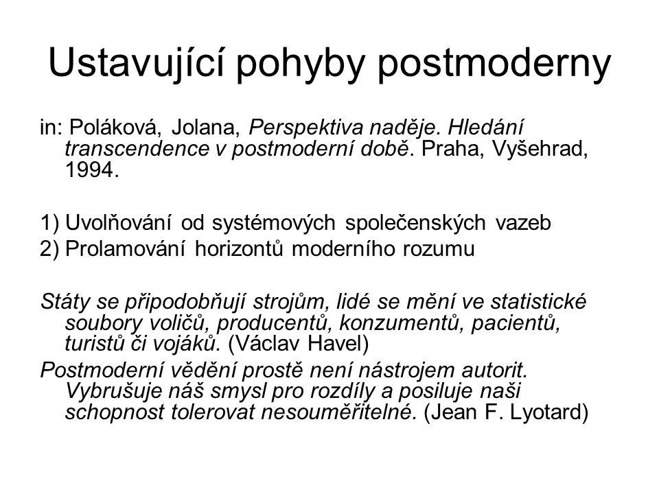 Ustavující pohyby postmoderny