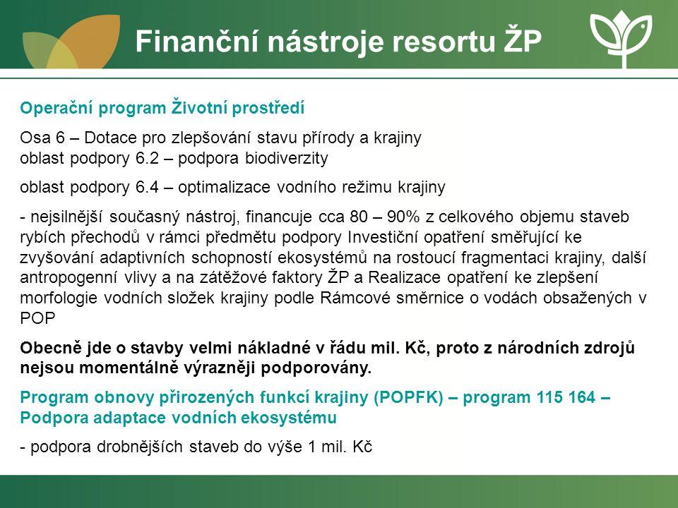 Finanční nástroje resortu ŽP