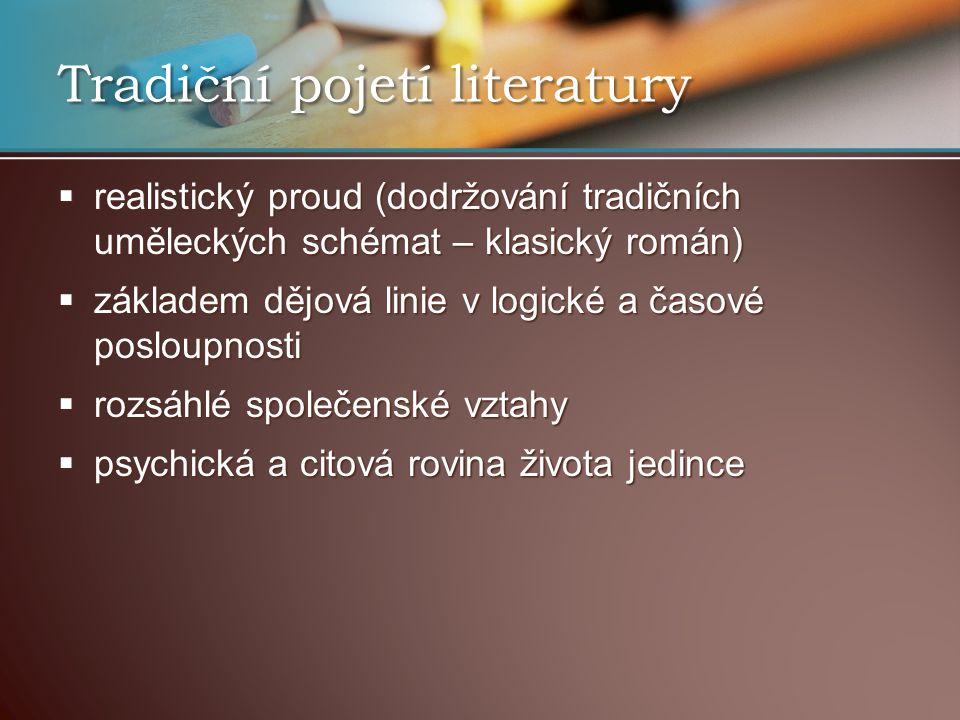 Tradiční pojetí literatury