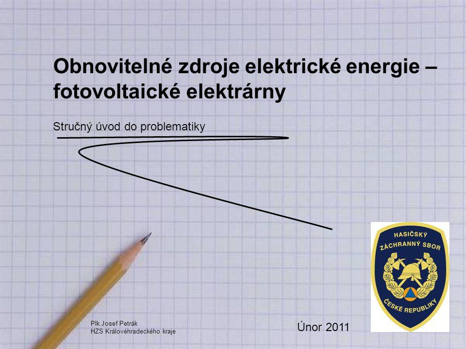 Obnovitelné zdroje elektrické energie – fotovoltaické elektrárny