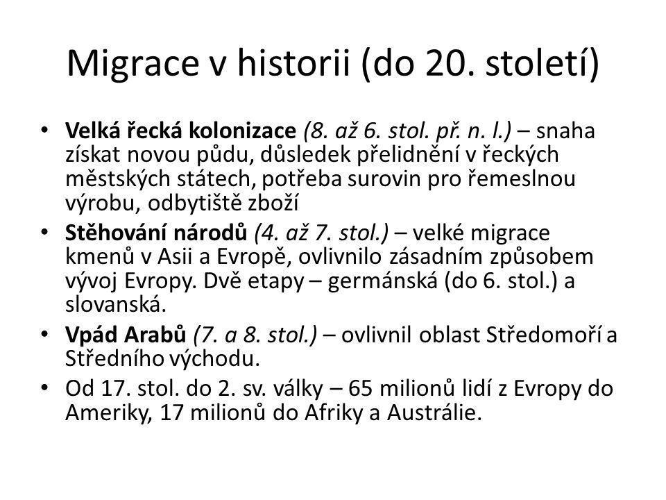 Migrace v historii (do 20. století)