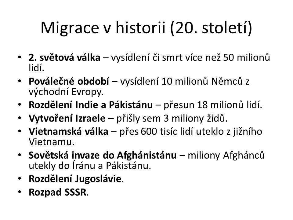 Migrace v historii (20. století)