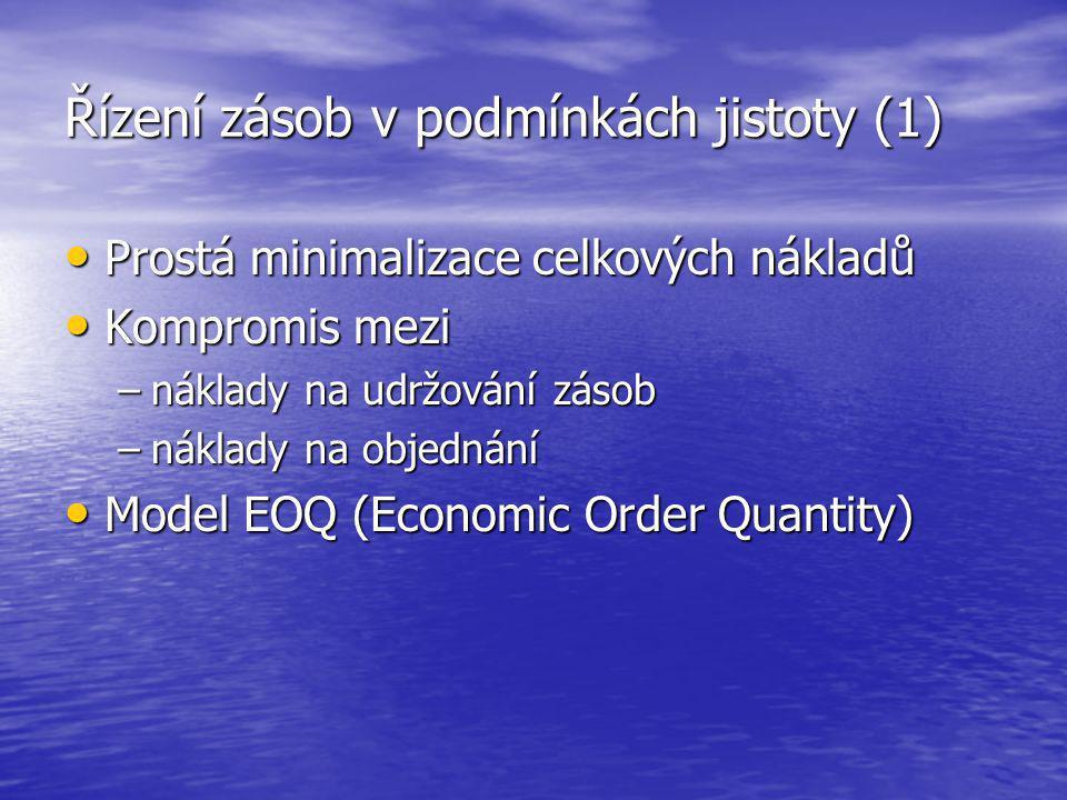 Řízení zásob v podmínkách jistoty (1)