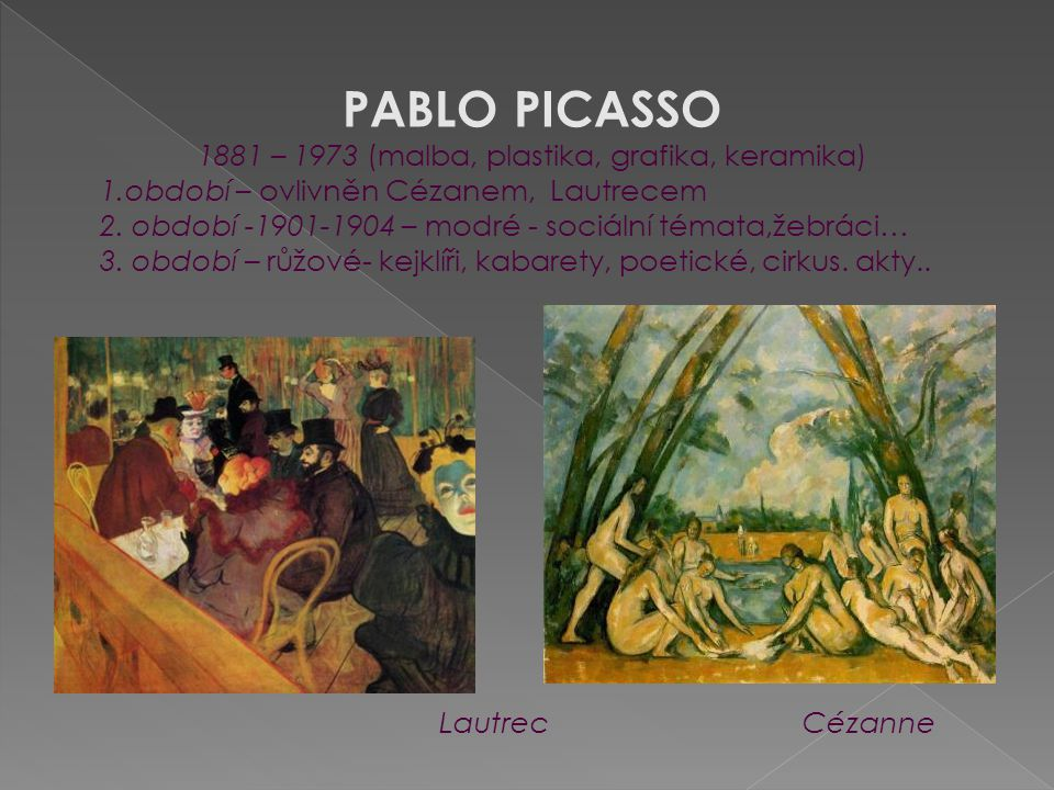 1881 – 1973 (malba, plastika, grafika, keramika)