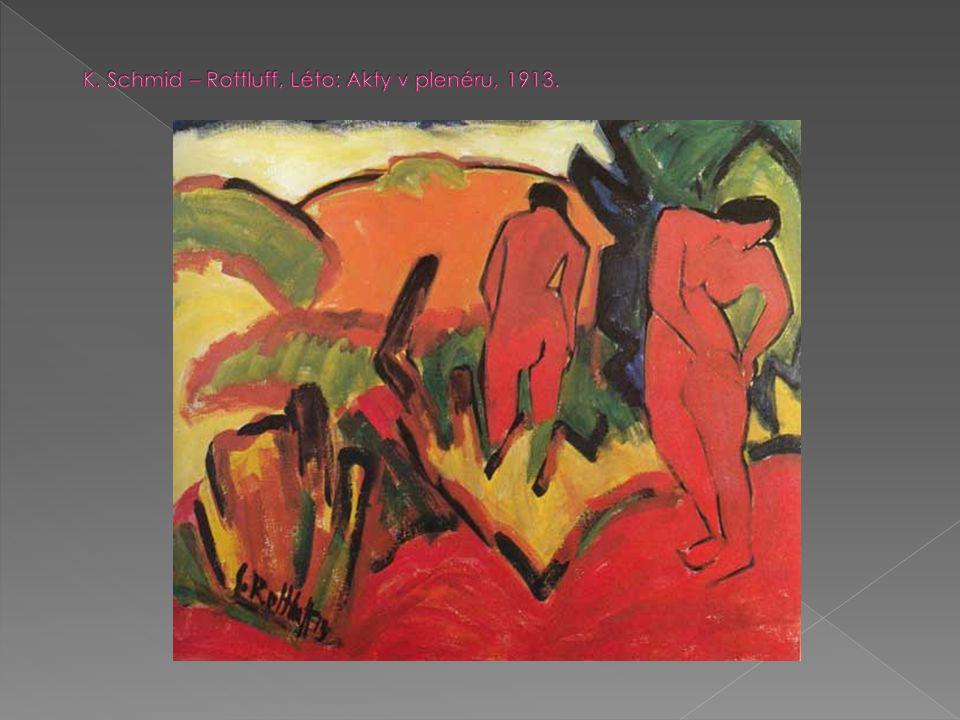 K. Schmid – Rottluff, Léto: Akty v plenéru, 1913.