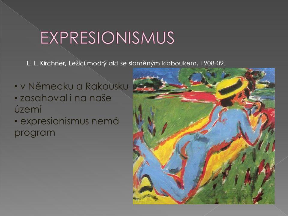 Expresionismus v Německu a Rakousku zasahoval i na naše území
