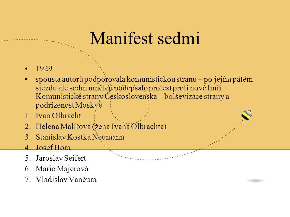 Manifest sedmi 1929.