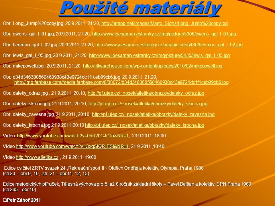 Použité materiály Obr. Long_Jump%20copy.jpg, 20.9.2011, 21:20, http://iampp.net/images/Marto_Signs/Long_Jump%20copy.jpg.