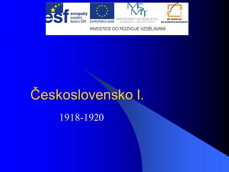 Československo I. 1918-1920