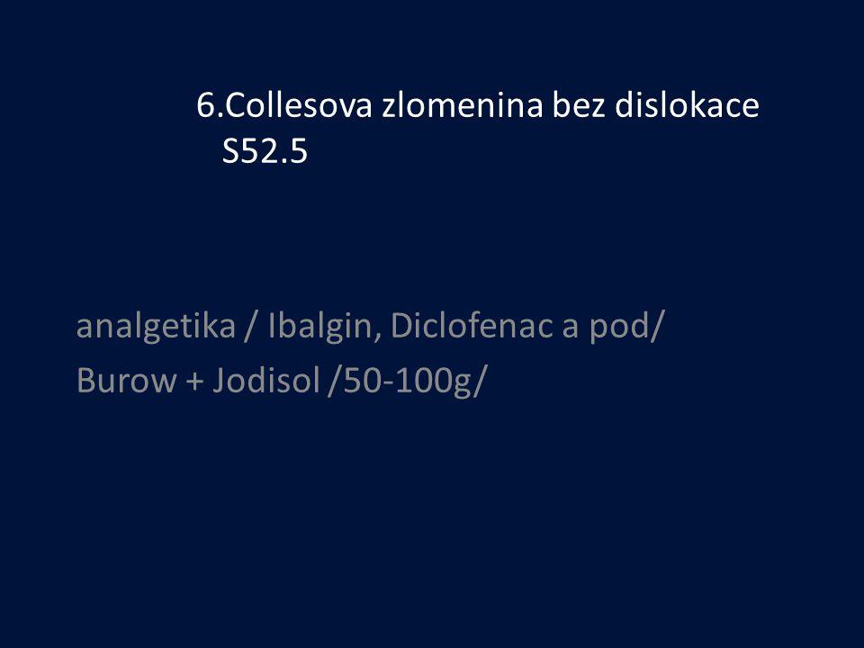 6.Collesova zlomenina bez dislokace S52.5