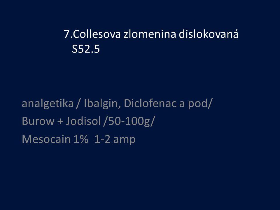 7.Collesova zlomenina dislokovaná S52.5