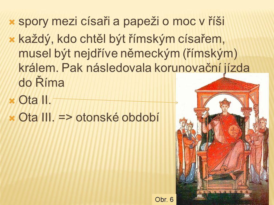 spory mezi císaři a papeži o moc v říši