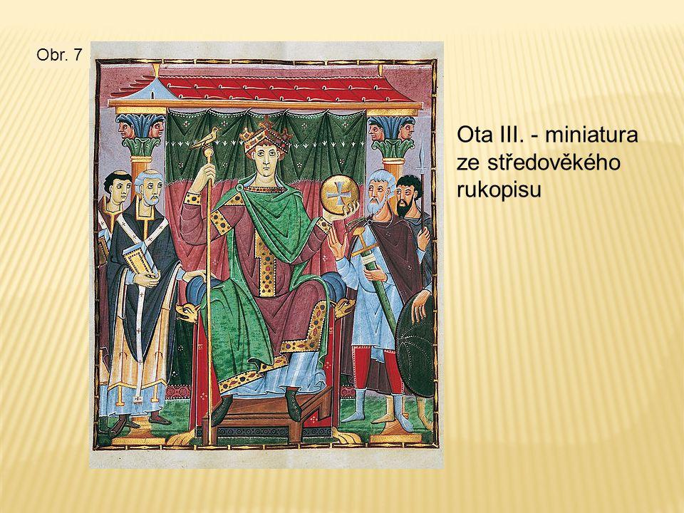 Ota III. - miniatura ze středověkého rukopisu