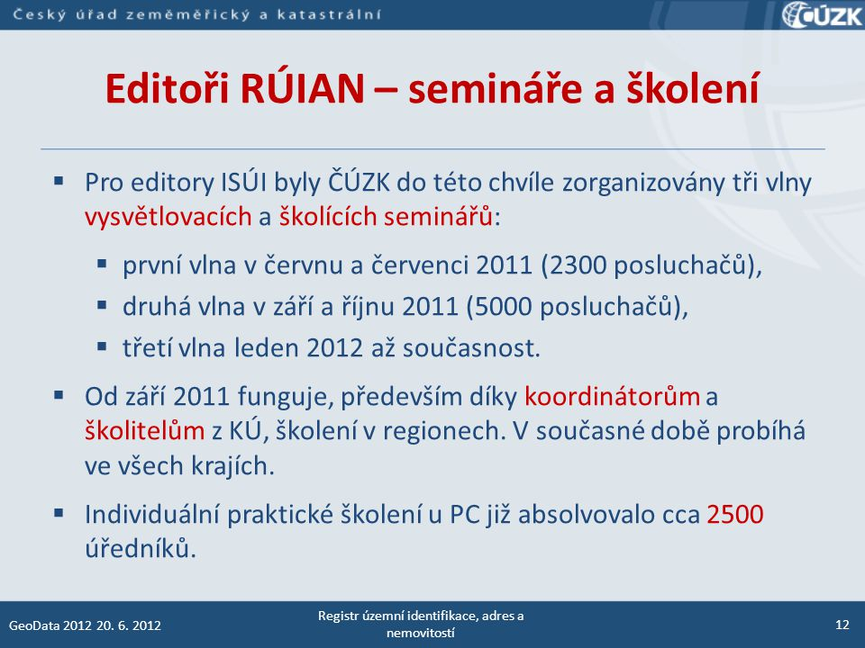 Editoři RÚIAN – semináře a školení