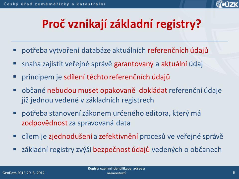 Proč vznikají základní registry