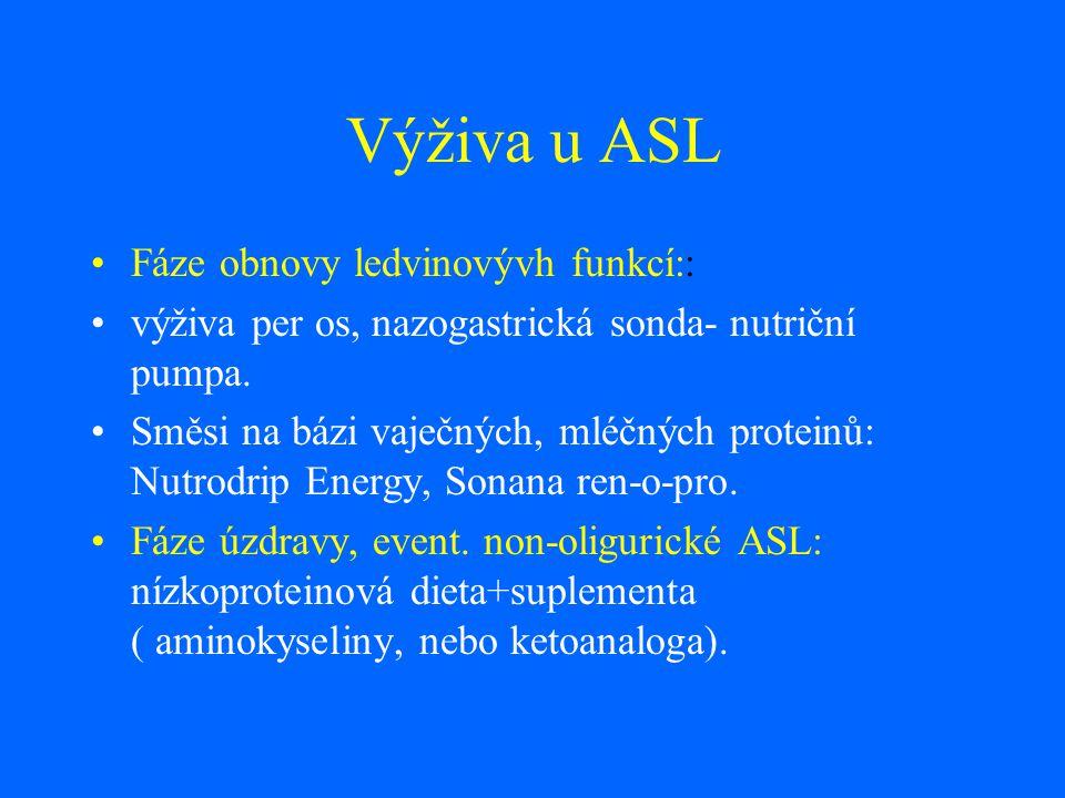 Výživa u ASL Fáze obnovy ledvinovývh funkcí::