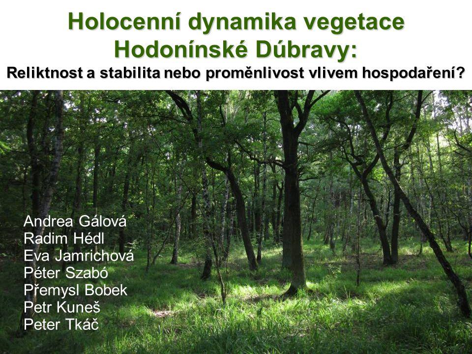 Holocenní dynamika vegetace Hodonínské Dúbravy: Reliktnost a stabilita nebo proměnlivost vlivem hospodaření