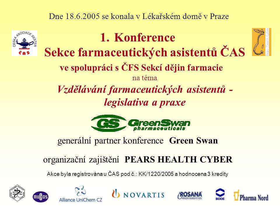 Konference Sekce farmaceutických asistentů ČAS