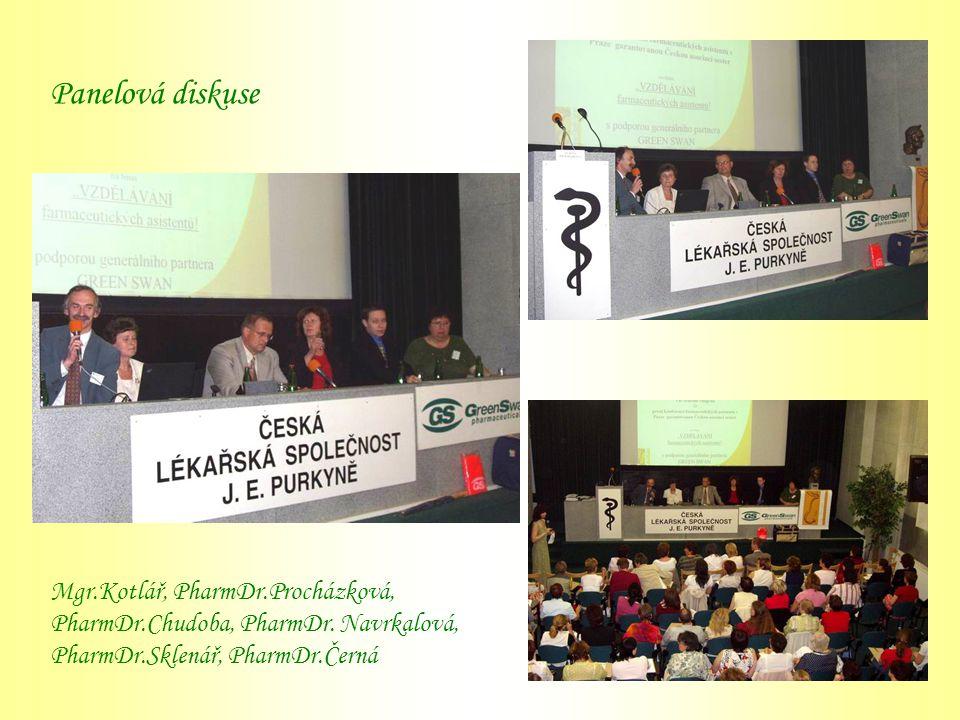 Panelová diskuse Mgr. Kotlář, PharmDr. Procházková, PharmDr