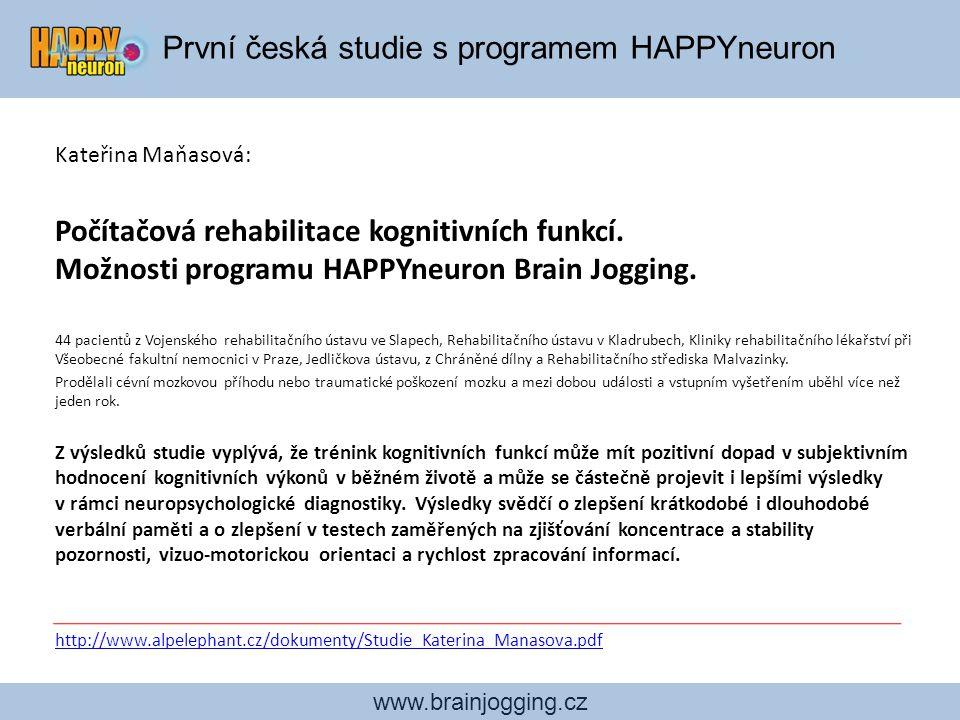 První česká studie s programem HAPPYneuron