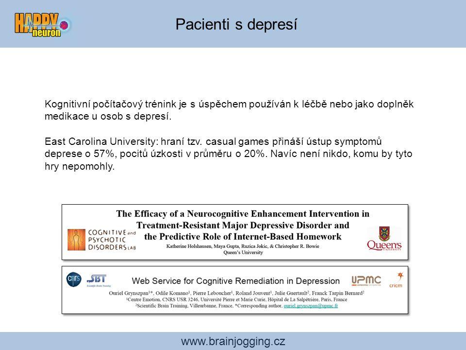 Pacienti s depresí www.brainjogging.cz