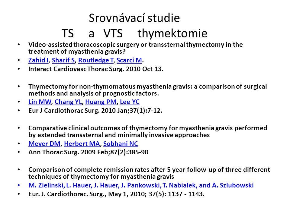 Srovnávací studie TS a VTS thymektomie