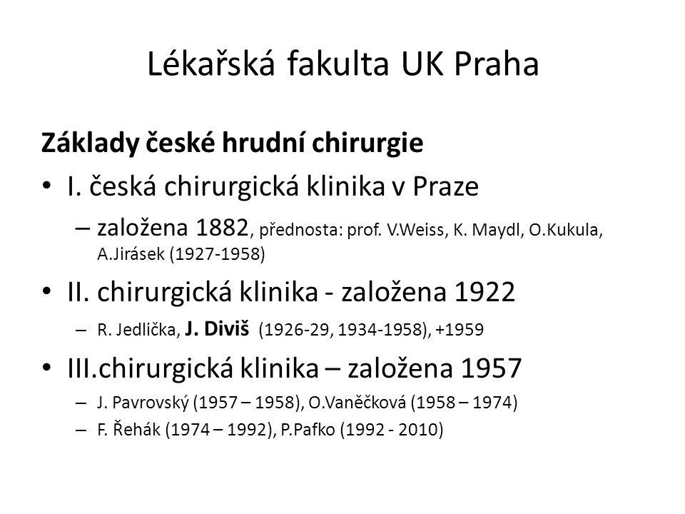Lékařská fakulta UK Praha