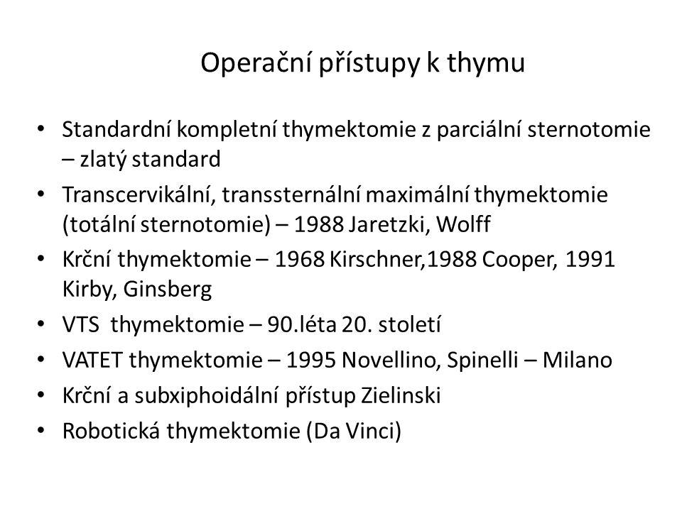 Operační přístupy k thymu