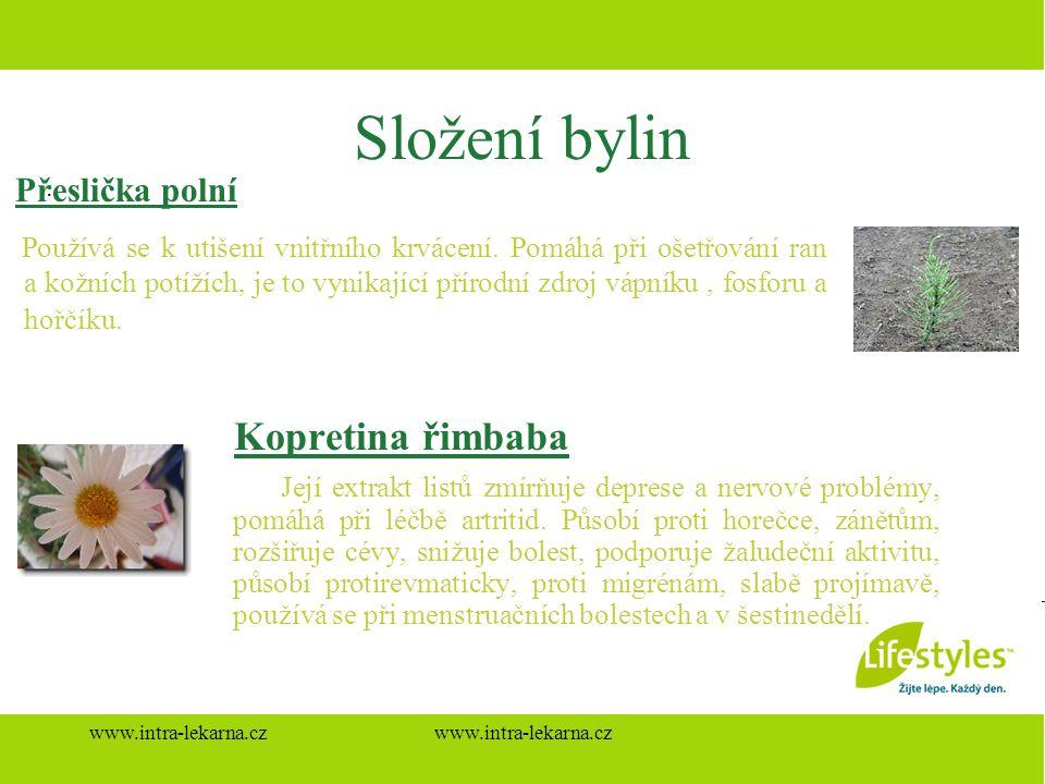 Složení bylin Přeslička polní Kopretina řimbaba .
