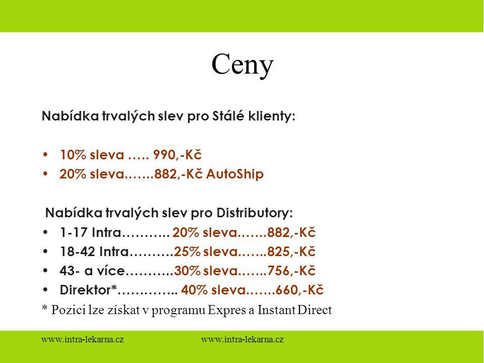 Ceny Nabídka trvalých slev pro Stálé klienty: 10% sleva .…. 990,-Kč