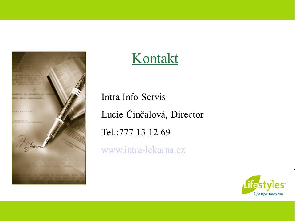 Kontakt Intra Info Servis Lucie Činčalová, Director Tel.:777 13 12 69