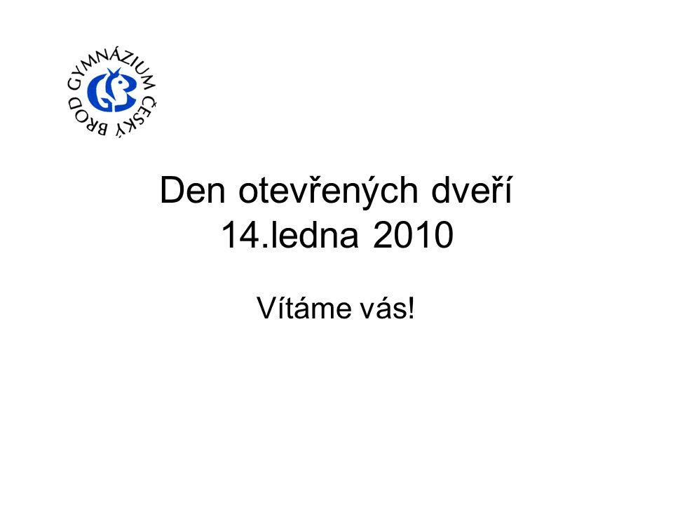 Den otevřených dveří 14.ledna 2010