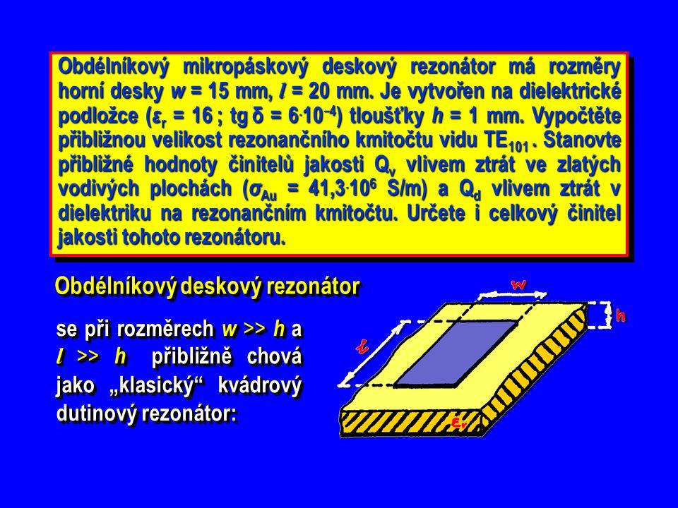 Obdélníkový deskový rezonátor