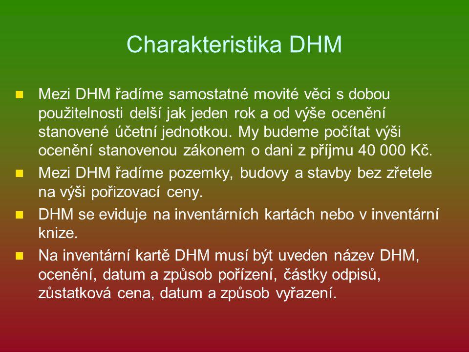 Charakteristika DHM