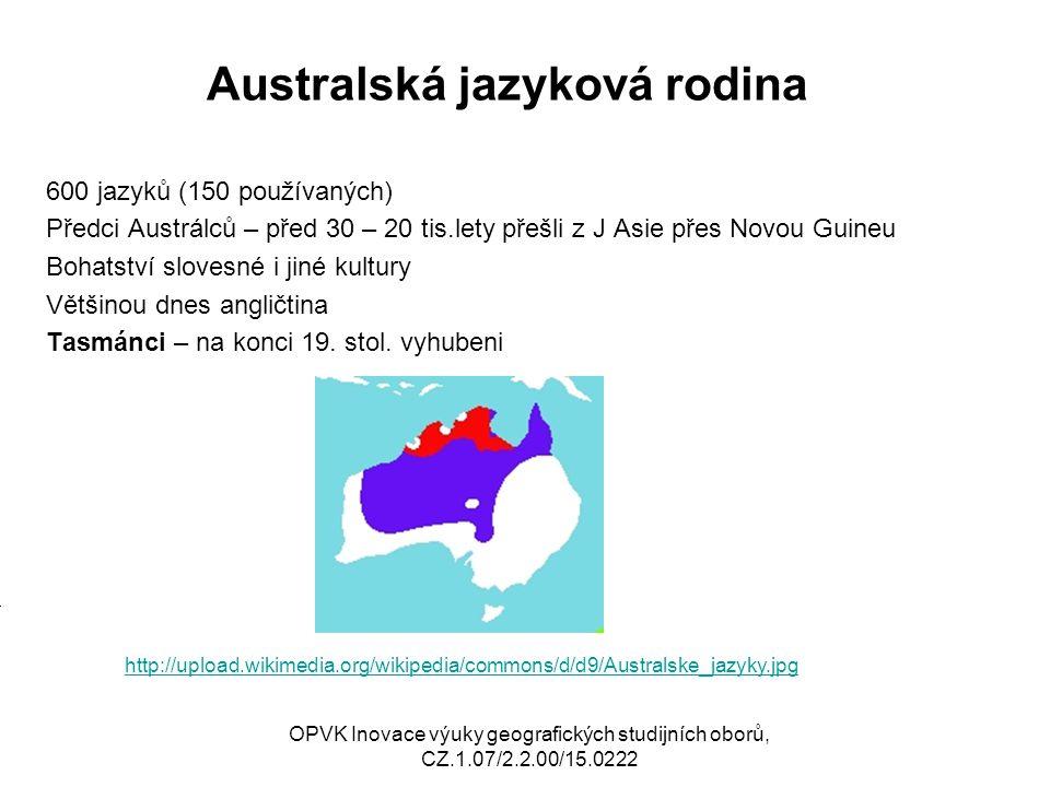 Australská jazyková rodina