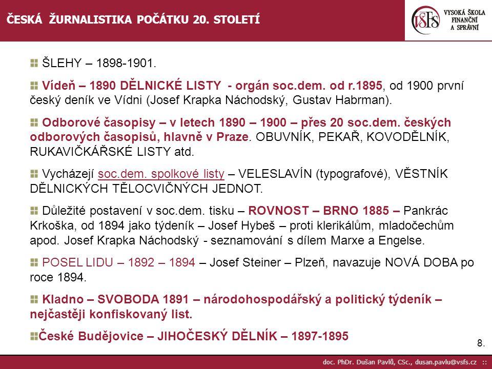České Budějovice – JIHOČESKÝ DĚLNÍK – 1897-1895